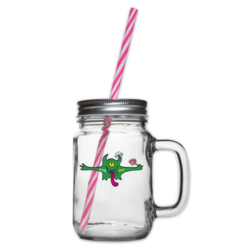 Hug me Monsters Every little monster needs a hug - Glass jar with handle and screw cap