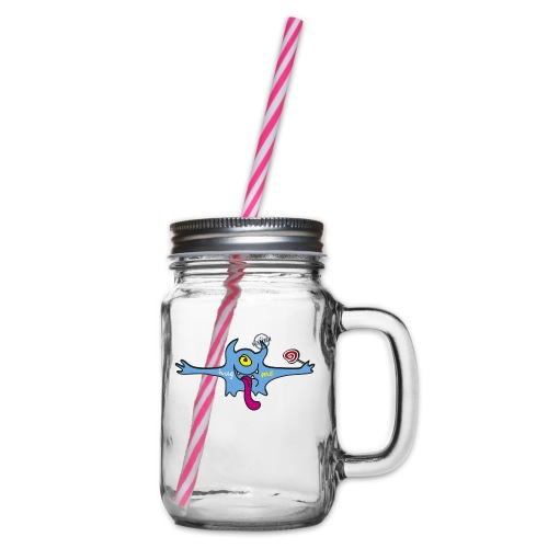 Hug me Monsters - Every little monster needs a hug - Glass jar with handle and screw cap
