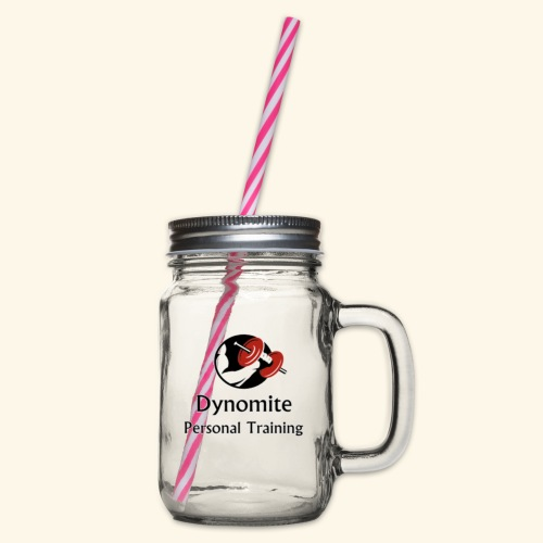 Dynomite Personal Training - Glass jar with handle and screw cap