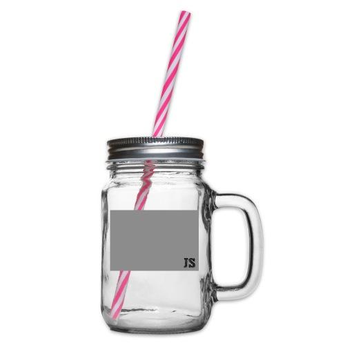 JustSquares Grijs - Drinkbeker met handvat en schroefdeksel