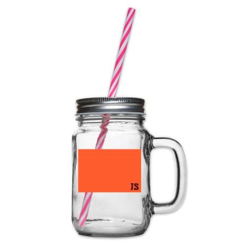JustSquares Oranje - Drinkbeker met handvat en schroefdeksel