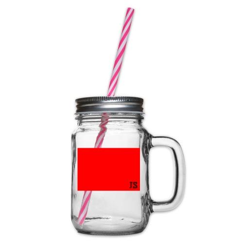 JustSquares Rood - Drinkbeker met handvat en schroefdeksel