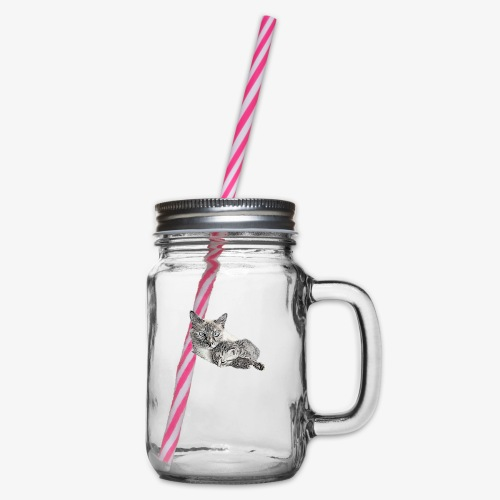 Snow and her baby - Glass jar with handle and screw cap