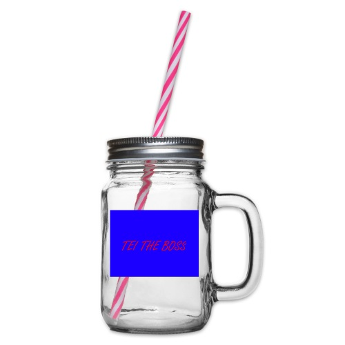 BLUE BOSSES - Glass jar with handle and screw cap