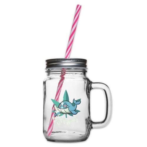 Der Pottwal - Henkelglas mit Schraubdeckel