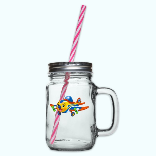 Airplane Arthur Collection - Glass jar with handle and screw cap