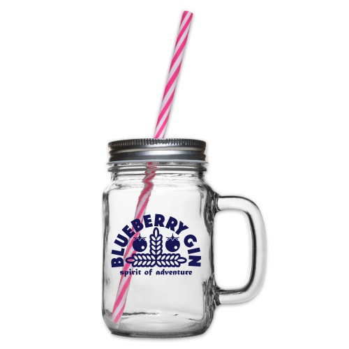 Blueberry Gin - Glass jar with handle and screw cap