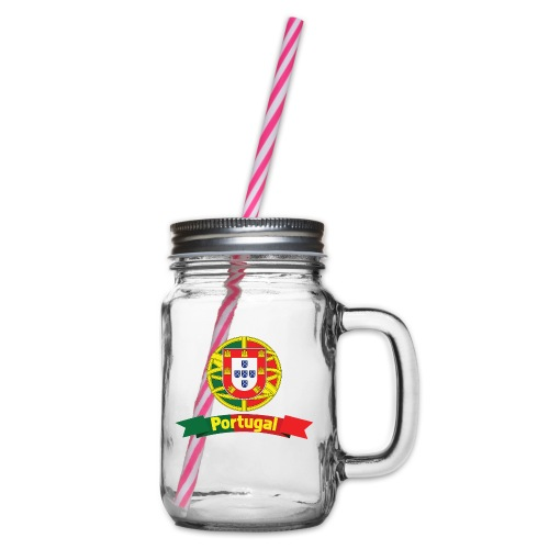 Portugal Campeão Europeu Camisolas de Futebol - Glass jar with handle and screw cap