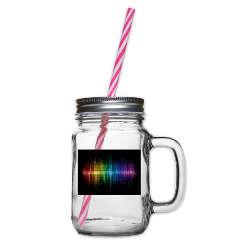 THE DJ - Glass jar with handle and screw cap