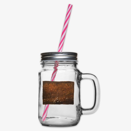 Champ marron - Glass jar with handle and screw cap