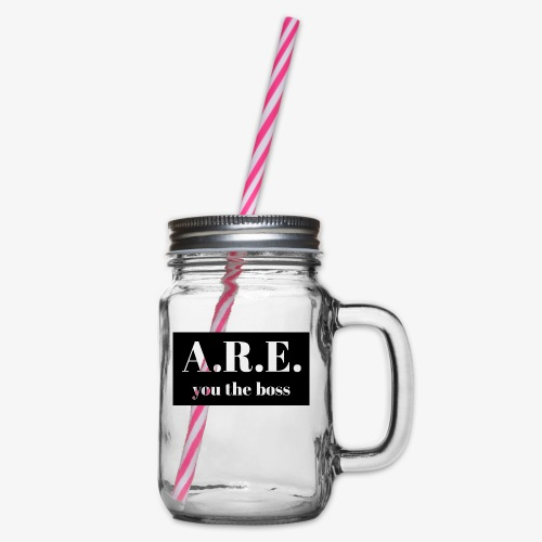 AREyou the boss - Glass jar with handle and screw cap