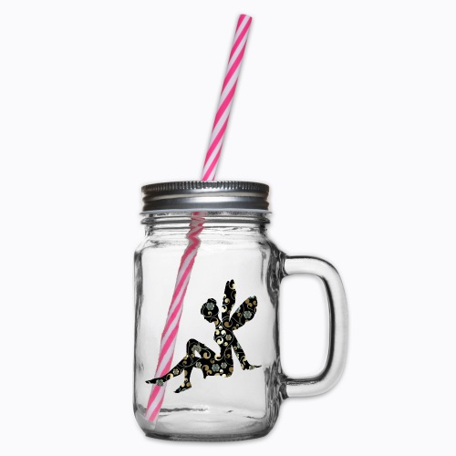 fairy abstract - Glass jar with handle and screw cap