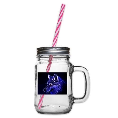 jeff wolf - Glass med hank og skrulokk