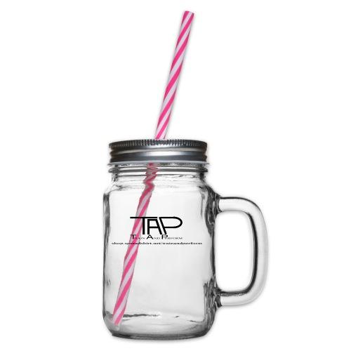 TAPLogoItem black - Glass jar with handle and screw cap