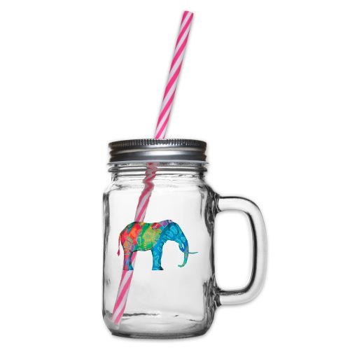 Elefant - Glass jar with handle and screw cap