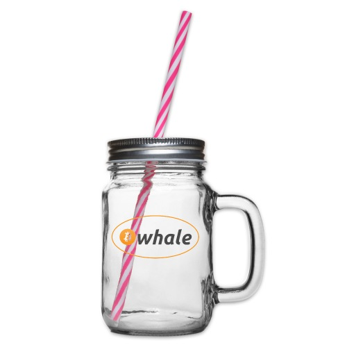 Bitcoin Whale - Glass jar with handle and screw cap