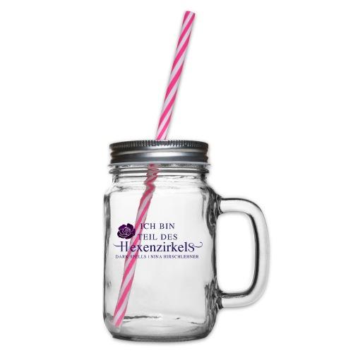 Der Hexenzirkel - Henkelglas mit Schraubdeckel