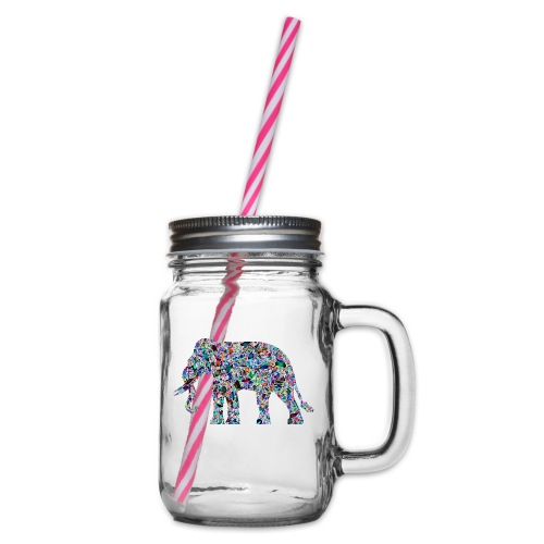 Elephant - Glass jar with handle and screw cap