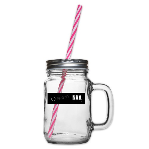I Love Singing - Glass jar with handle and screw cap