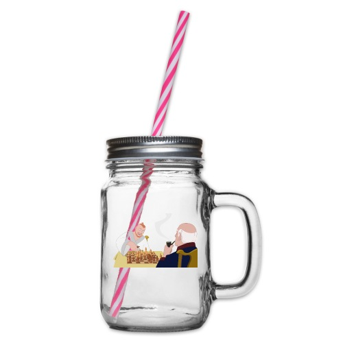 Put that in your pipe and smoke it! - Glass jar with handle and screw cap