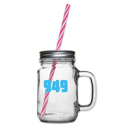 949blue - Henkelglas mit Schraubdeckel