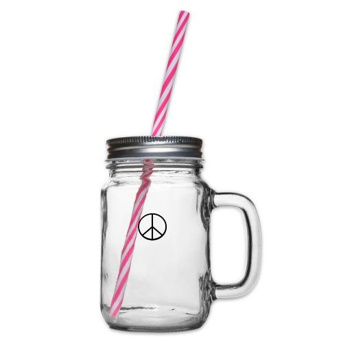 peace - Glas med handtag och skruvlock