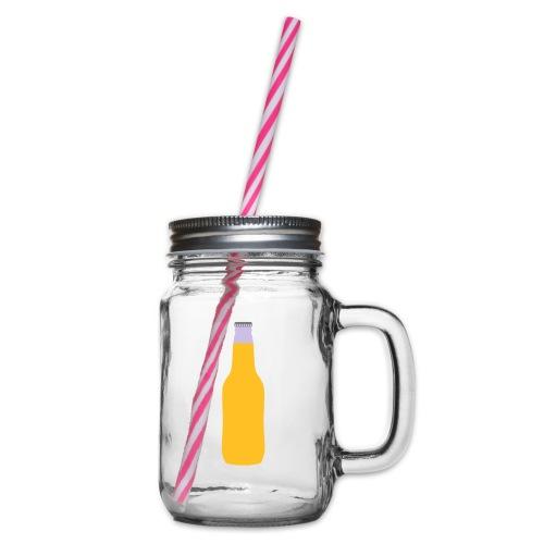 Bierflasche - Henkelglas mit Schraubdeckel
