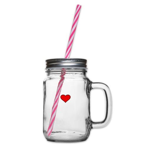 big heart clipart 3 - Glas med handtag och skruvlock