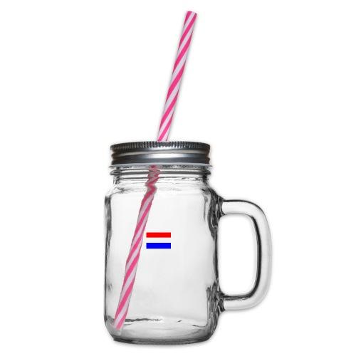 vlag nl - Drinkbeker met handvat en schroefdeksel