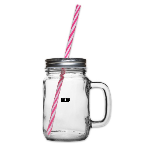 brttrpsmallblack - Glass jar with handle and screw cap