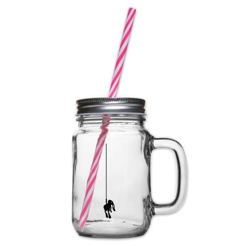 Cliffy - Henkelglas mit Schraubdeckel