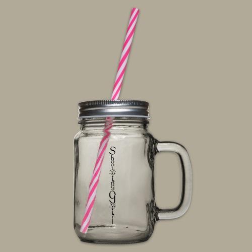Logo vertikal Sterne - Henkelglas mit Schraubdeckel