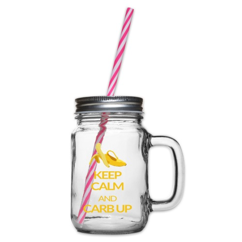 KEEP CALM and CARB UP - Henkelglas mit Schraubdeckel