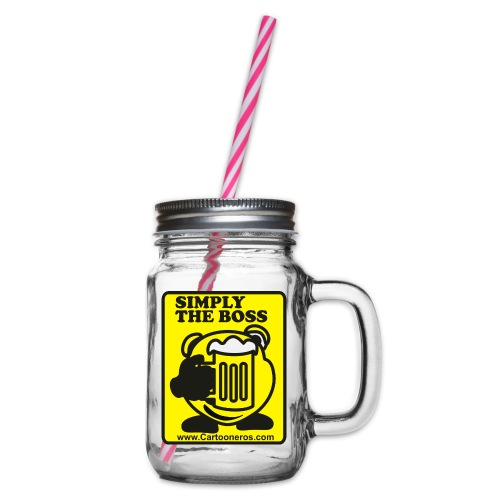 Simply the Boss - Glass jar with handle and screw cap