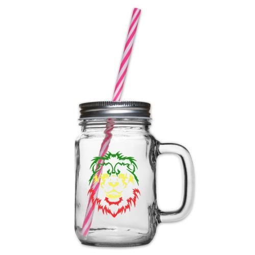 KARAVAAN Lion Reggae - Drinkbeker met handvat en schroefdeksel