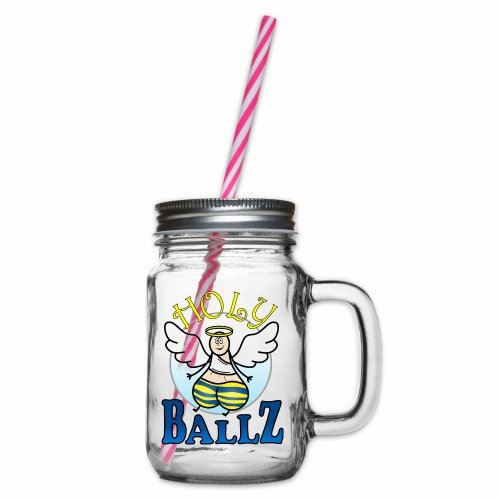 Holy Ballz Charlie - Glass jar with handle and screw cap