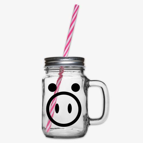 pig - Słoik do picia z pokrywką