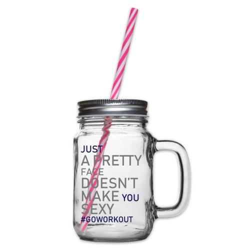 Just a pretty face... - Glass jar with handle and screw cap