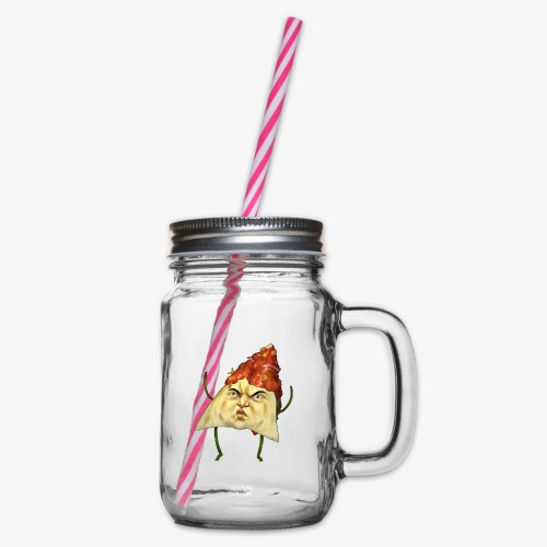 Macho Nacho - Glass jar with handle and screw cap