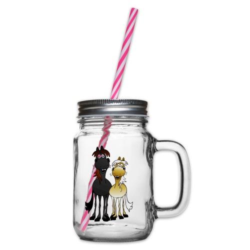 2horses - Henkelglas mit Schraubdeckel