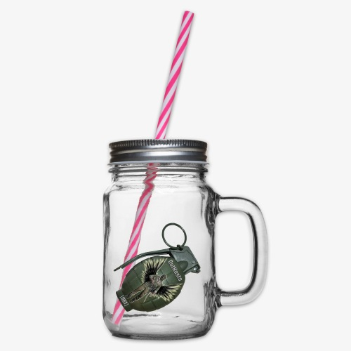 OutKasts Grenade Side - Glass jar with handle and screw cap