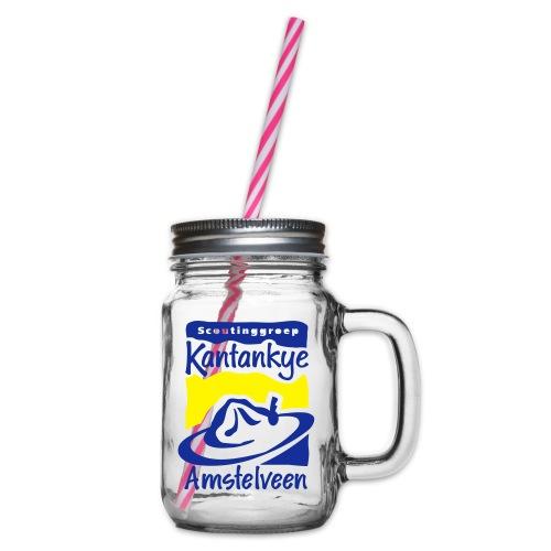 logo simpel 2 - Drinkbeker met handvat en schroefdeksel