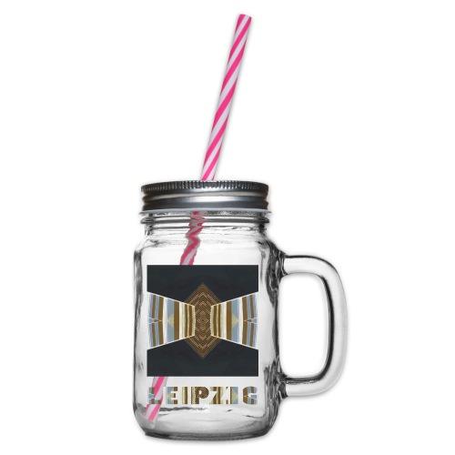 Leipzig #2 - Henkelglas mit Schraubdeckel
