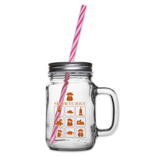 Shortcake - Multiview - Henkelglas mit Schraubdeckel