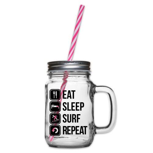 surfboard - Drinkbeker met handvat en schroefdeksel