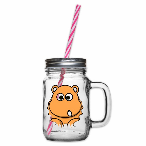 Nashorn - Henkelglas mit Schraubdeckel