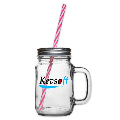 Kevsoft - Glass jar with handle and screw cap