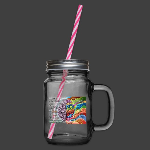 Brain LR - Glass jar with handle and screw cap