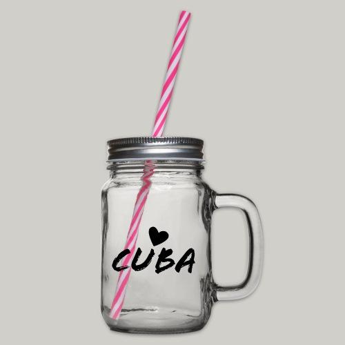 Cuba Herz - Henkelglas mit Schraubdeckel