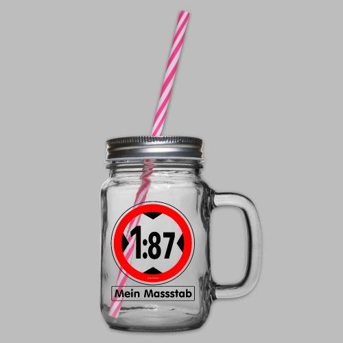 1:87 Mein Massstab - Henkelglas mit Schraubdeckel